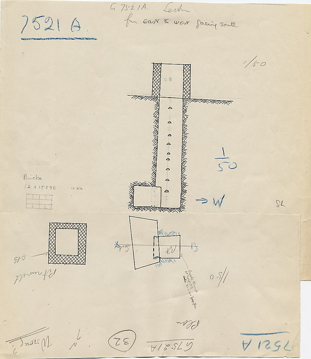 Maps and plans: G 7521, Shaft A