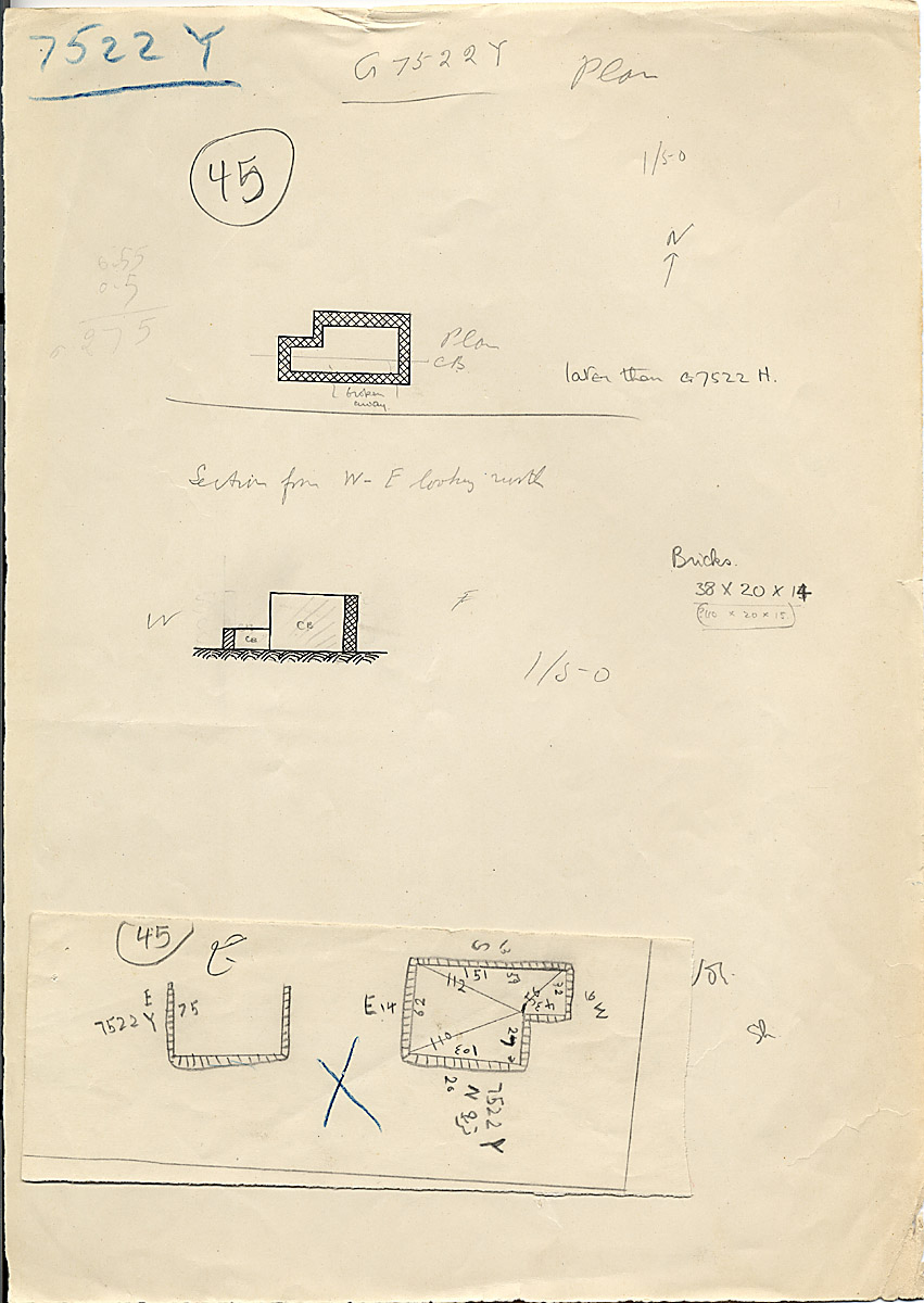Maps and plans: G 7522, Shaft Y