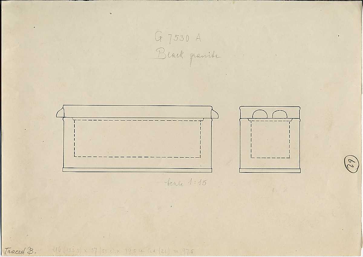 Drawings: G 7530-7540: G 7530, Shaft A, sarcophagus
