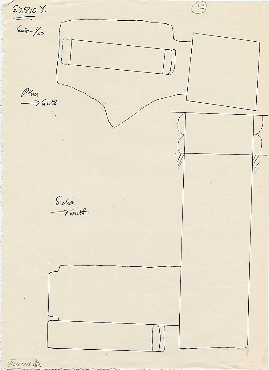 Maps and plans: G 7530-7540: G 7540, Shaft Y