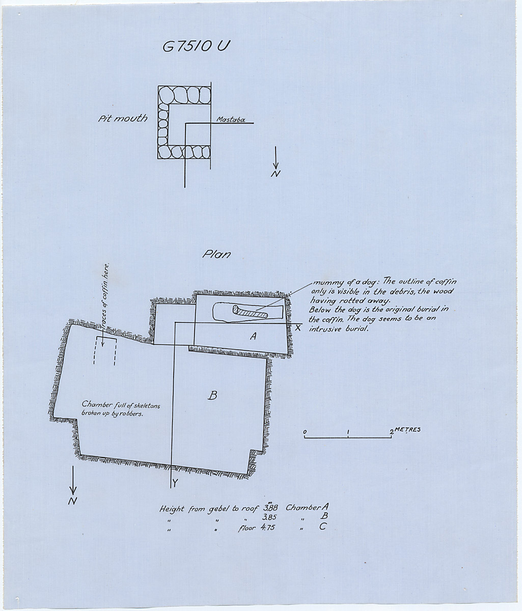 Maps and plans: G 7510, Shaft U