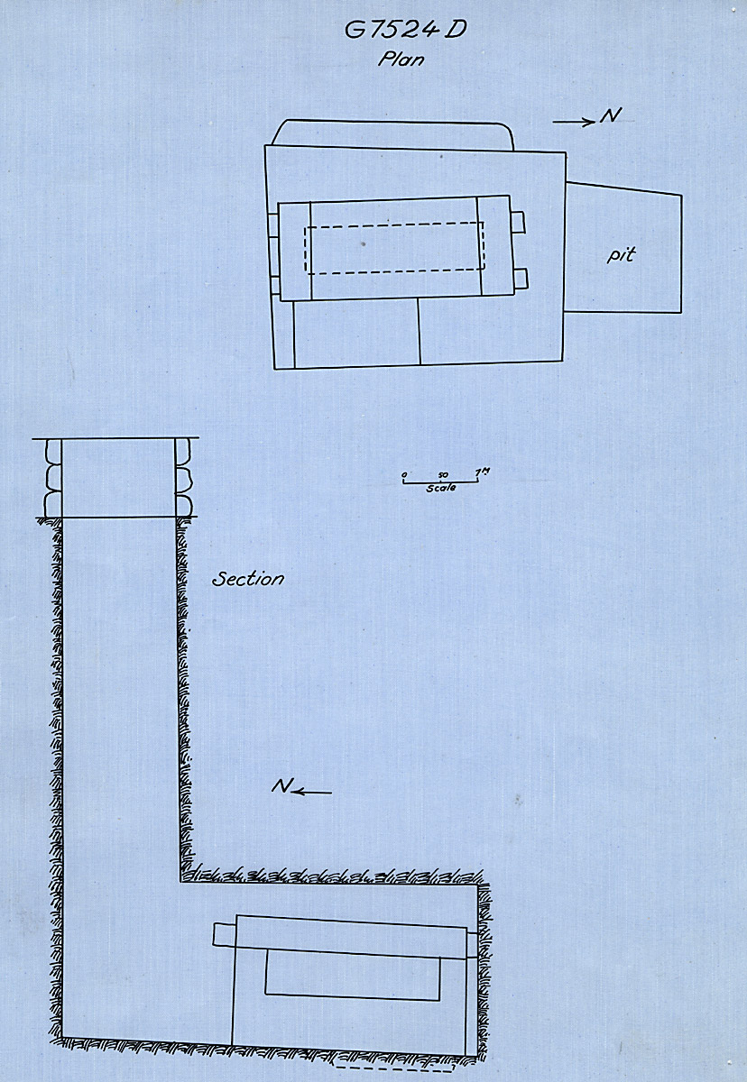 Maps and plans: G 7524, Shaft D