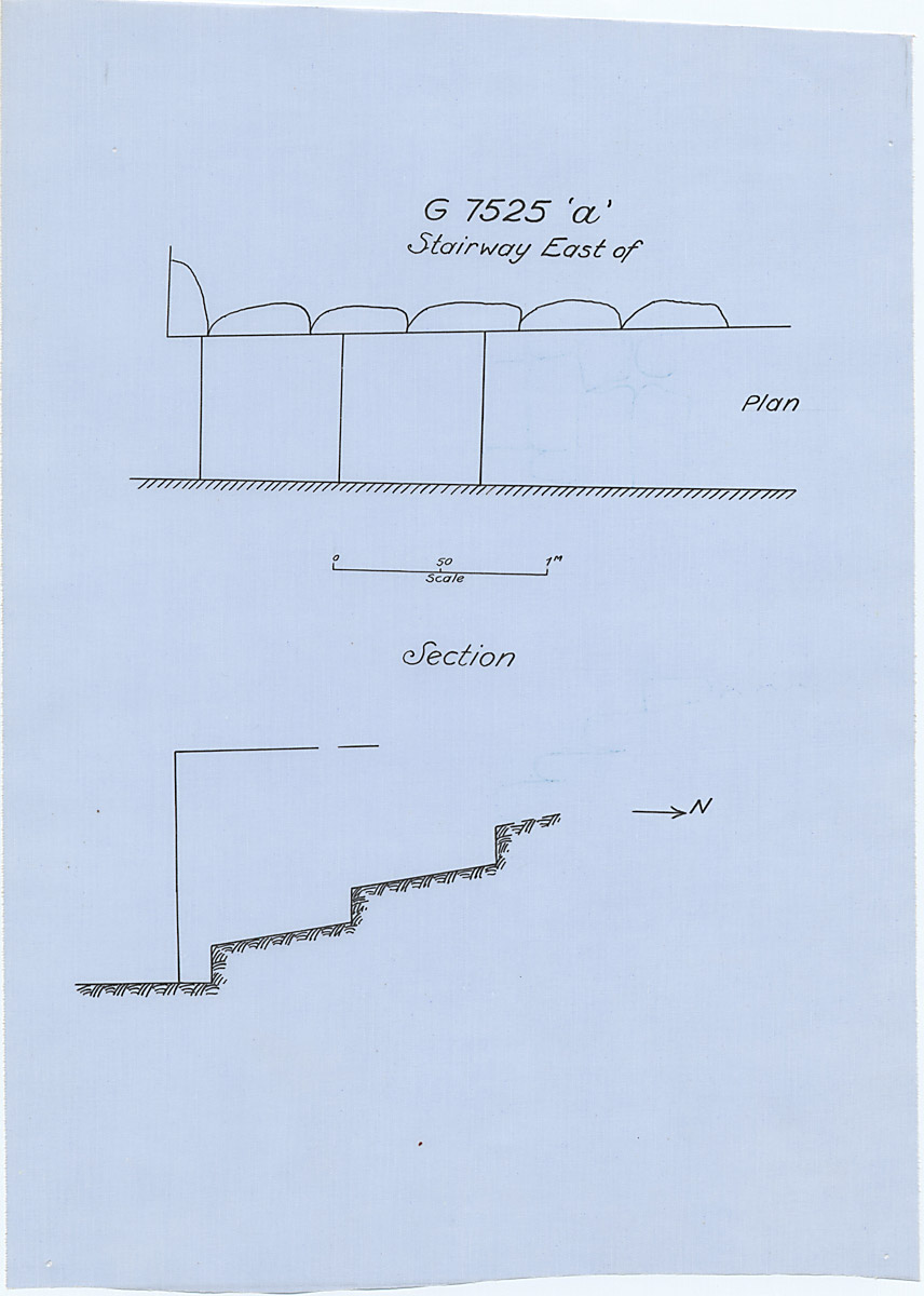 Maps and plans: G 7525, stairway east