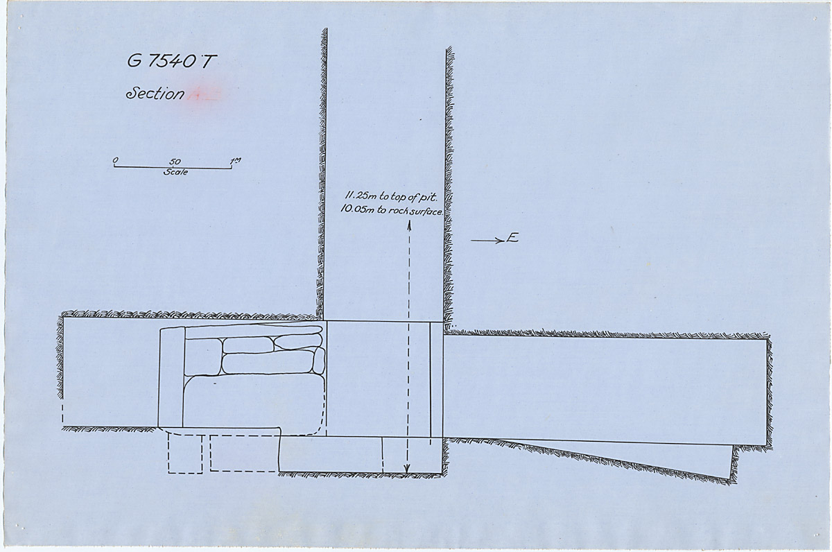 Maps and plans: G 7530-7540: G 7540, Shaft T