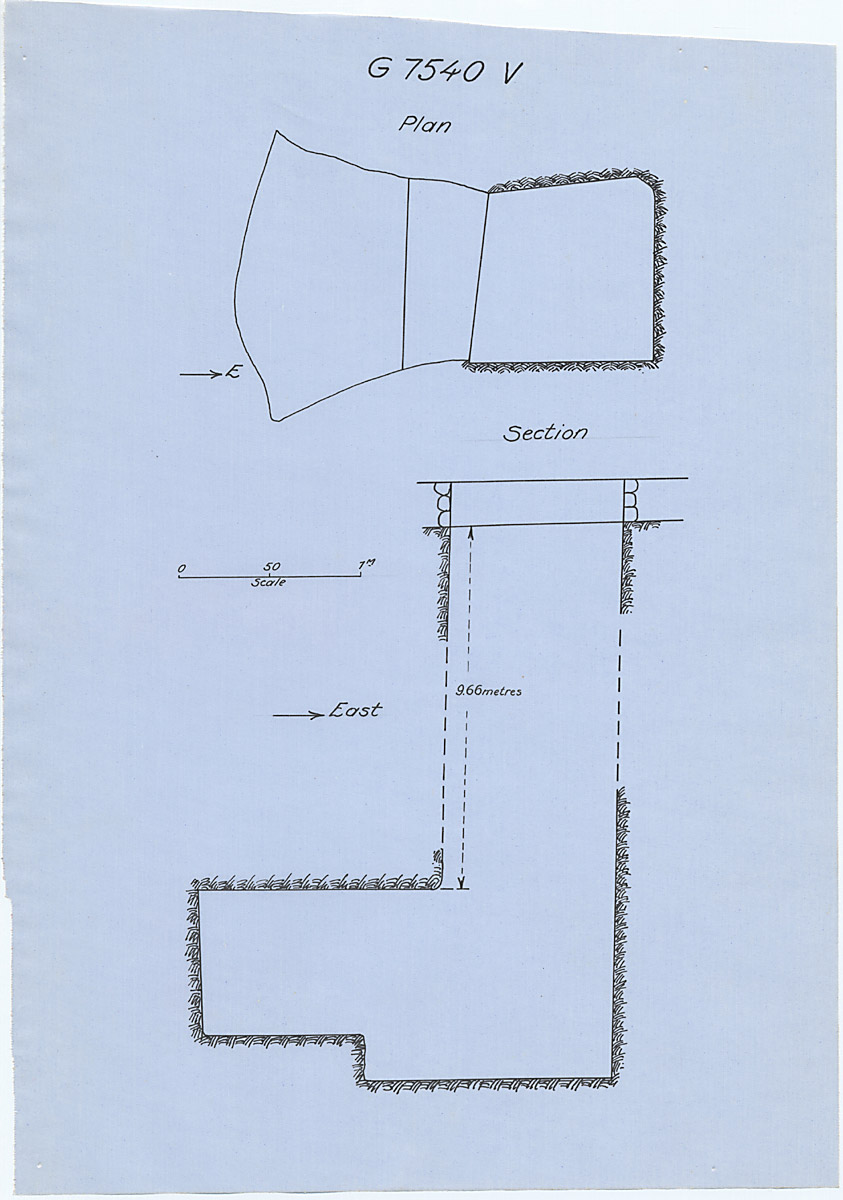 Maps and plans: G 7530-7540: G 7540, Shaft V