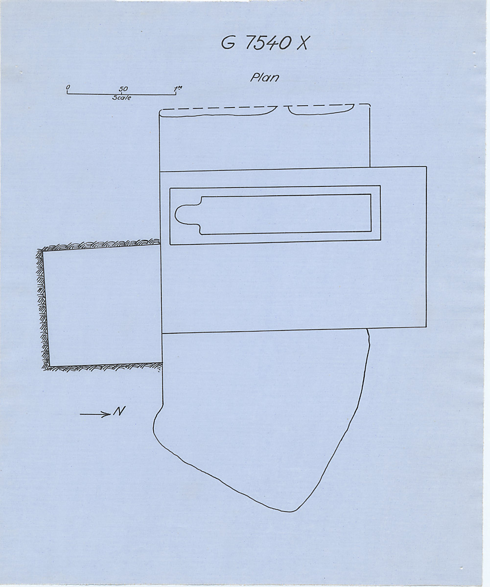 Maps and plans: G 7530-7540: G 7540, Shaft X