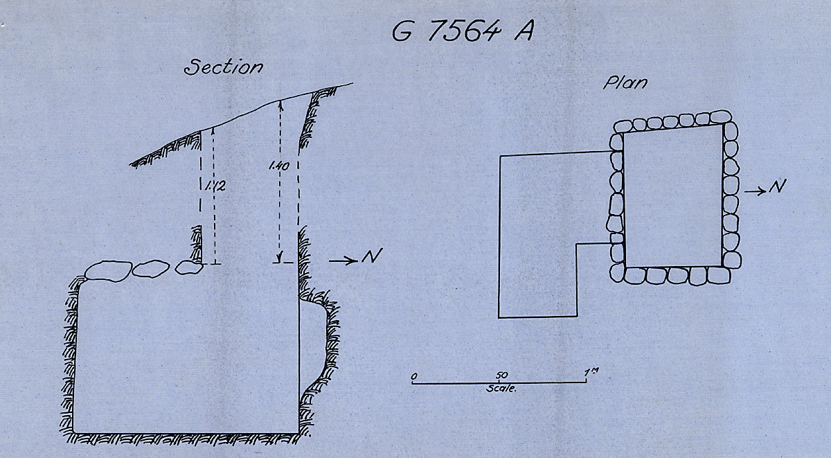 Maps and plans: G 7564, Shaft A