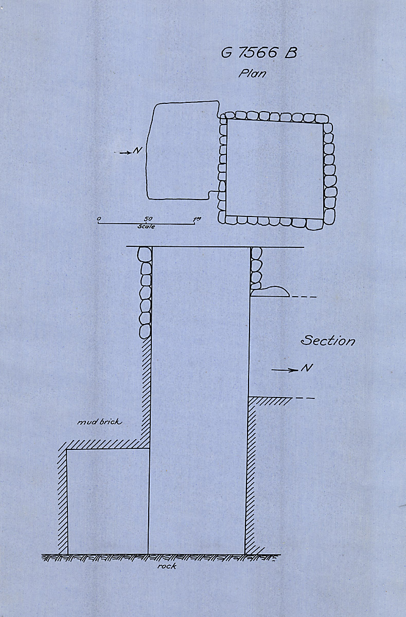Maps and plans: G 7566, Shaft B