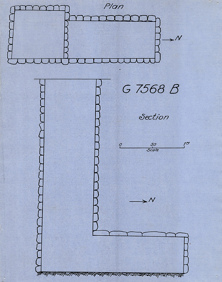 Maps and plans: G 7568, Shaft B