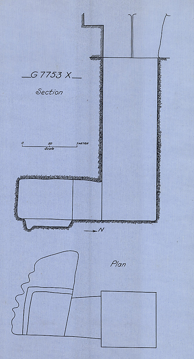 Maps and plans: G 7753, Shaft X