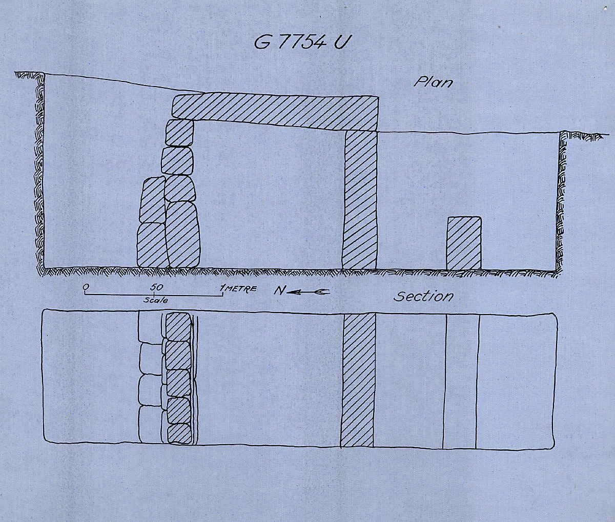 Maps and plans: G 7754, Shaft U