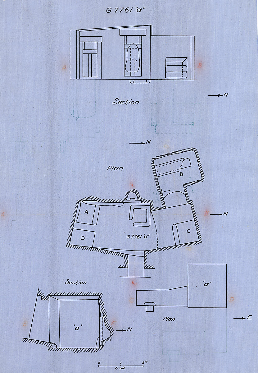 Maps and plans: G 7761, Chapel a, with shafts G 7761a A, B, C, D
