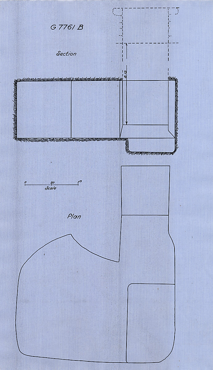 Maps and plans: G 7761, Shaft B