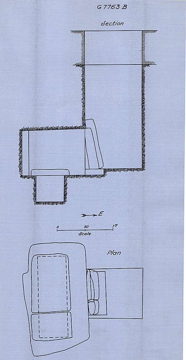 Maps and plans: G 7763, Shaft B