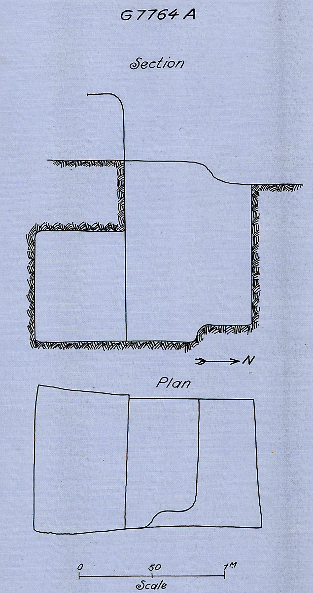 Maps and plans: G 7764, Shaft A