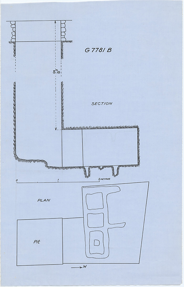 Maps and plans: G 7781, Shaft B