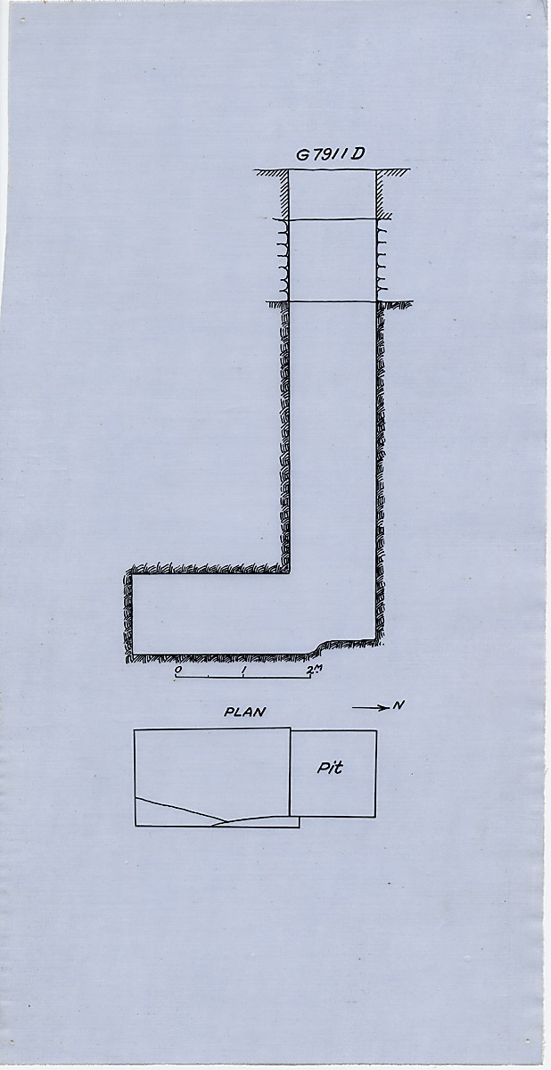 Maps and plans: G 7911, Shaft D