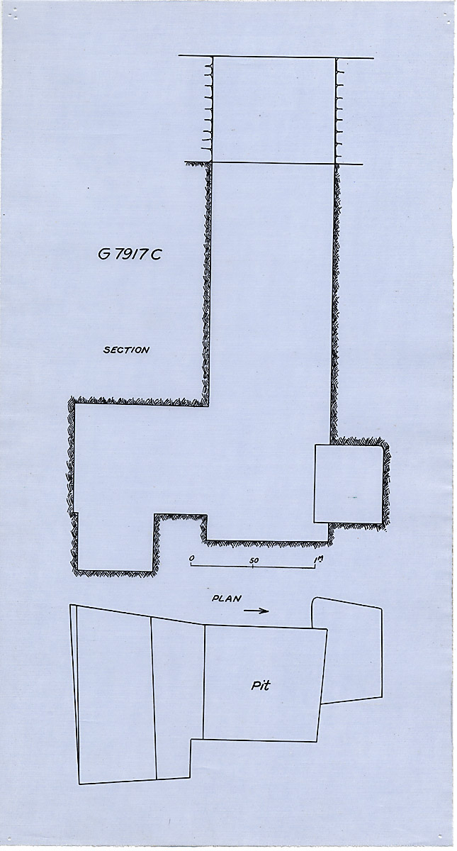 Maps and plans: G 7917, Shaft C
