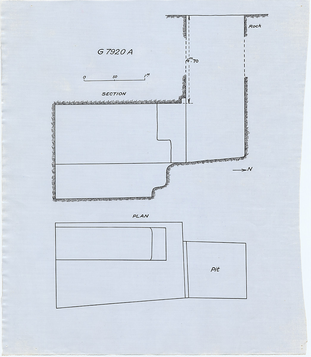 Maps and plans: G 7920, Shaft A