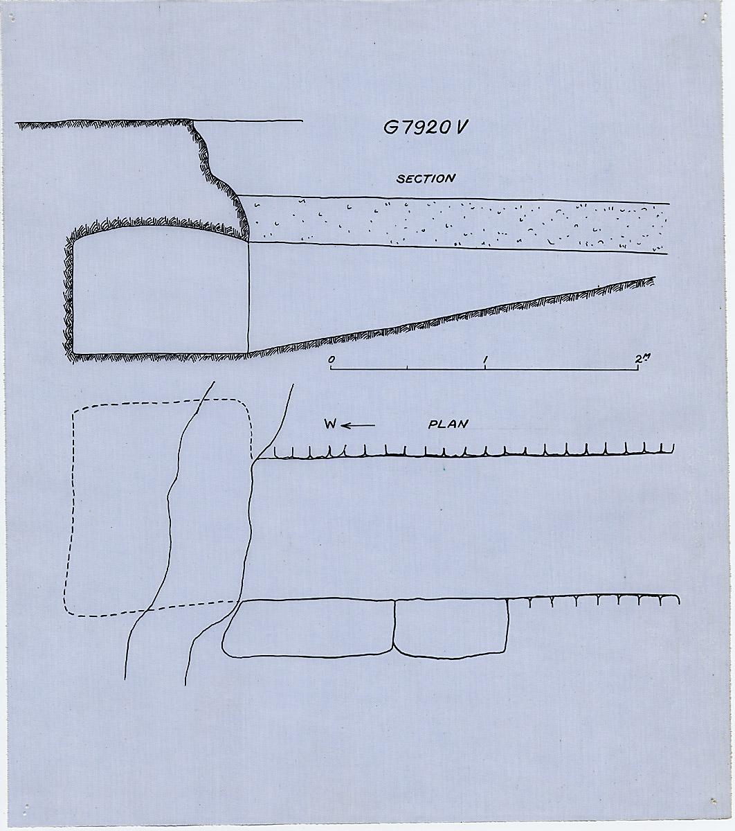 Maps and plans: G 7920, Shaft V