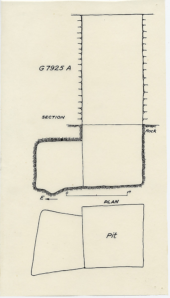 Maps and plans: G 7925, Shaft A
