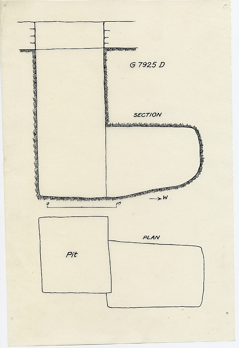 Maps and plans: G 7925, Shaft D