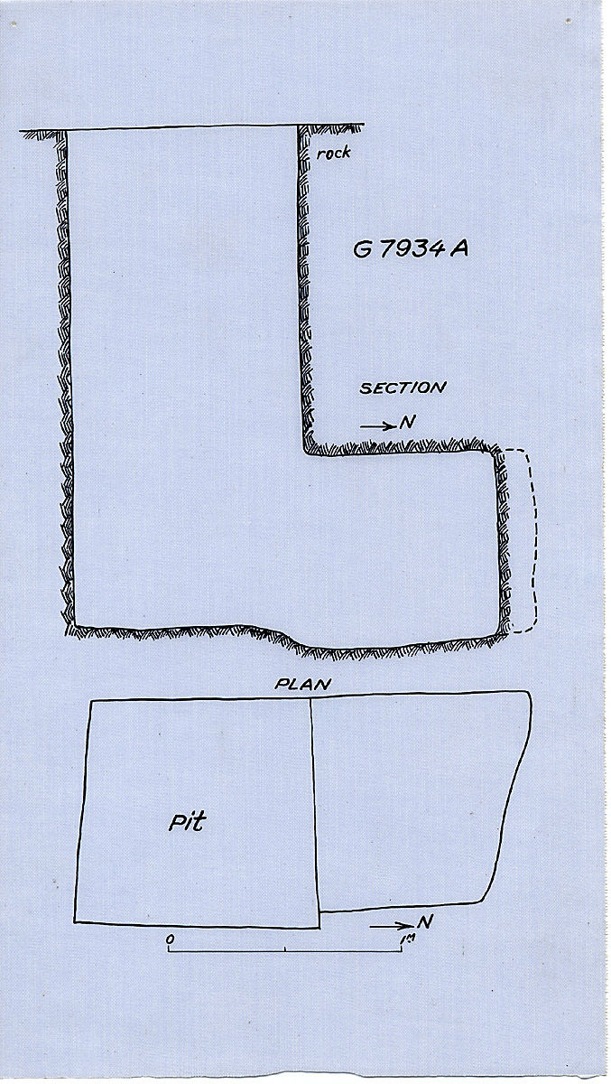 Maps and plans: G 7934, Shaft A