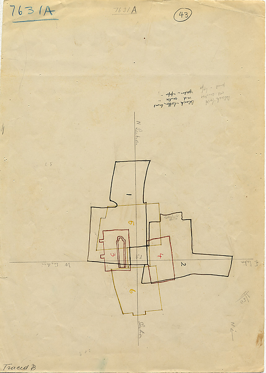 Maps and plans: G 7631, Shaft A