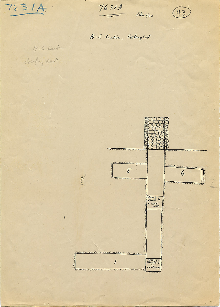 Maps and plans: G 7631, Shaft A, section east