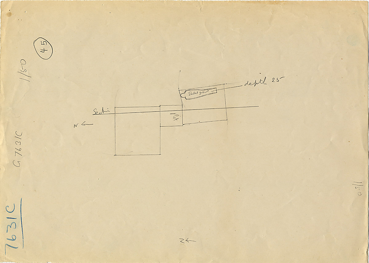 Maps and plans: G 7631, Shaft C