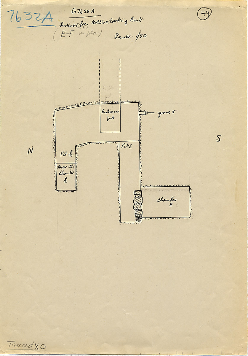 Maps and plans: G 7632, Shaft A, section east