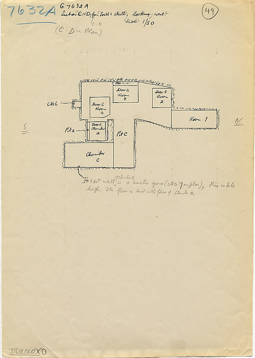 Maps and plans: G 7632, Shaft A, section west