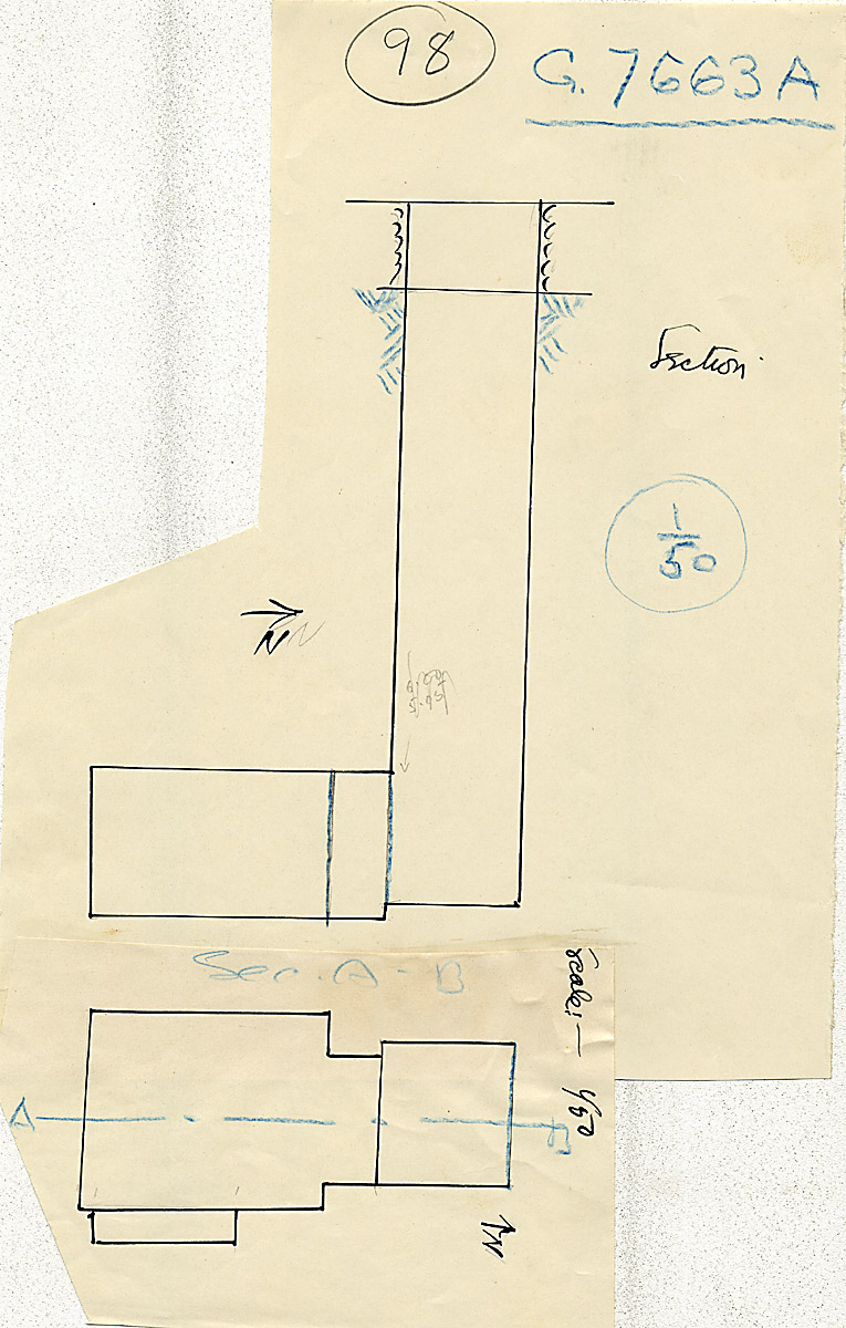 Maps and plans: G 7663, Shaft A