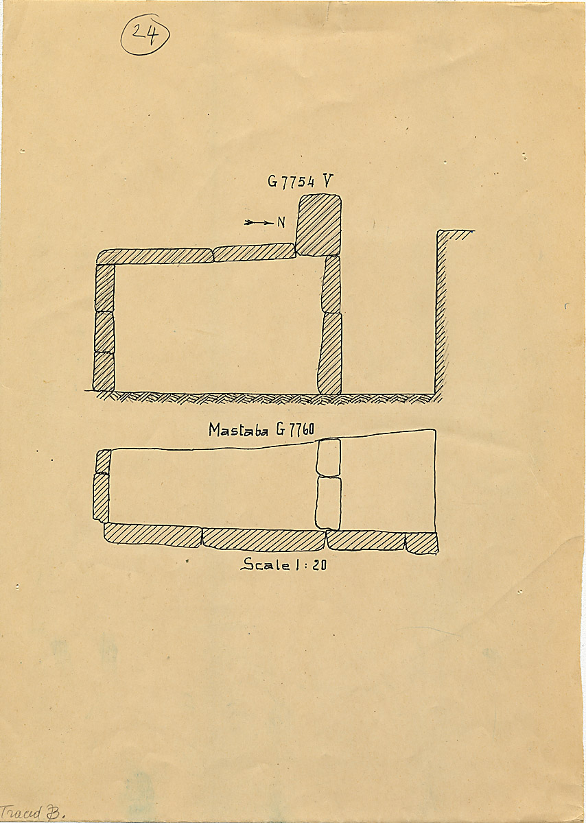 Maps and plans: G 7754, Shaft V