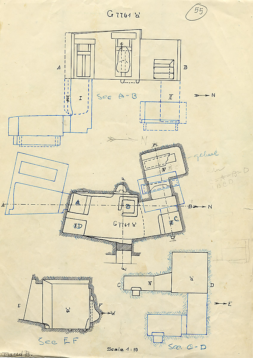 Maps and plans: G 7761 Chapel a, with shafts G 7761a A, B, C, D