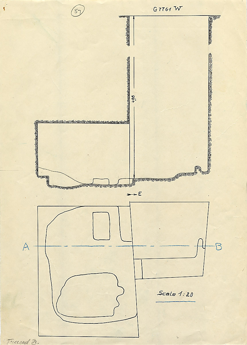 Maps and plans: G 7761, Shaft W