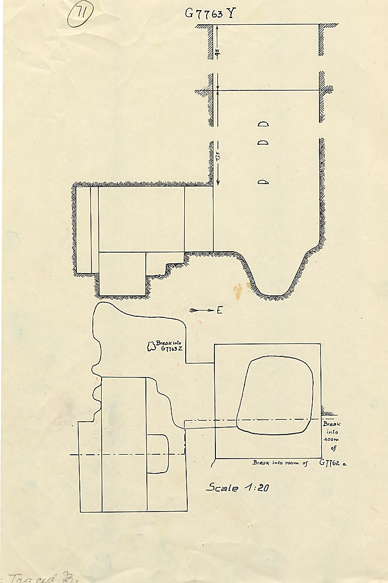 Maps and plans: G 7763, Shaft Y