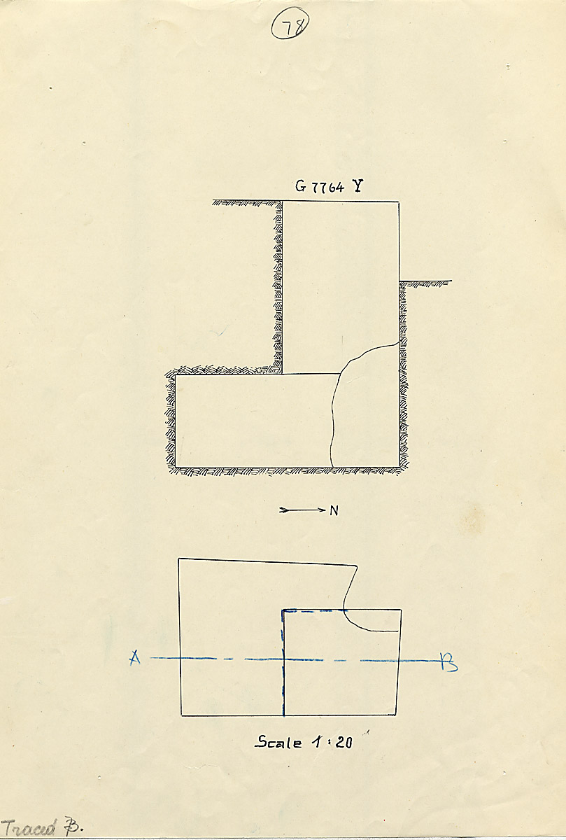 Maps and plans: G 7764, Shaft Y