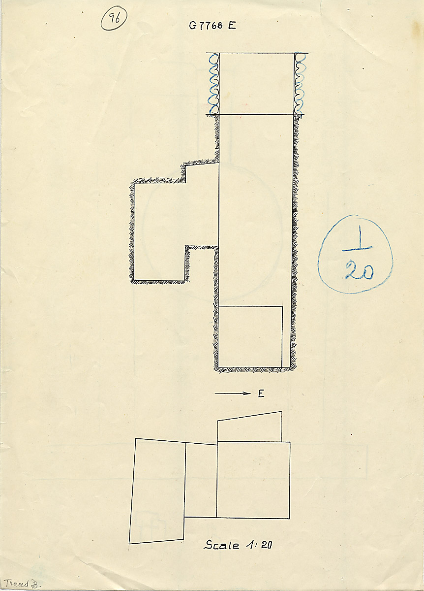Maps and plans: G 7768, Shaft E