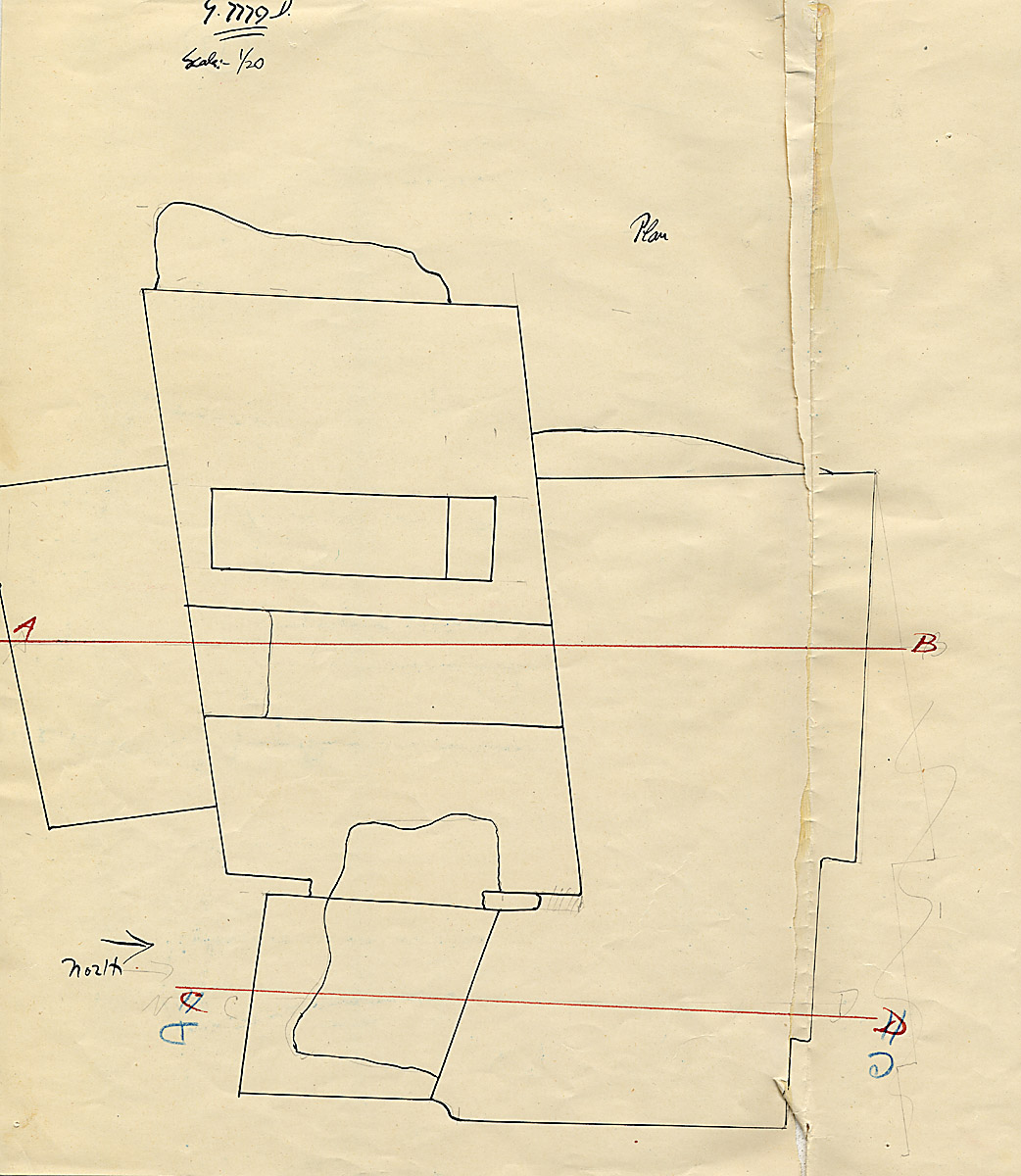 Maps and plans: G 7779, Shaft D