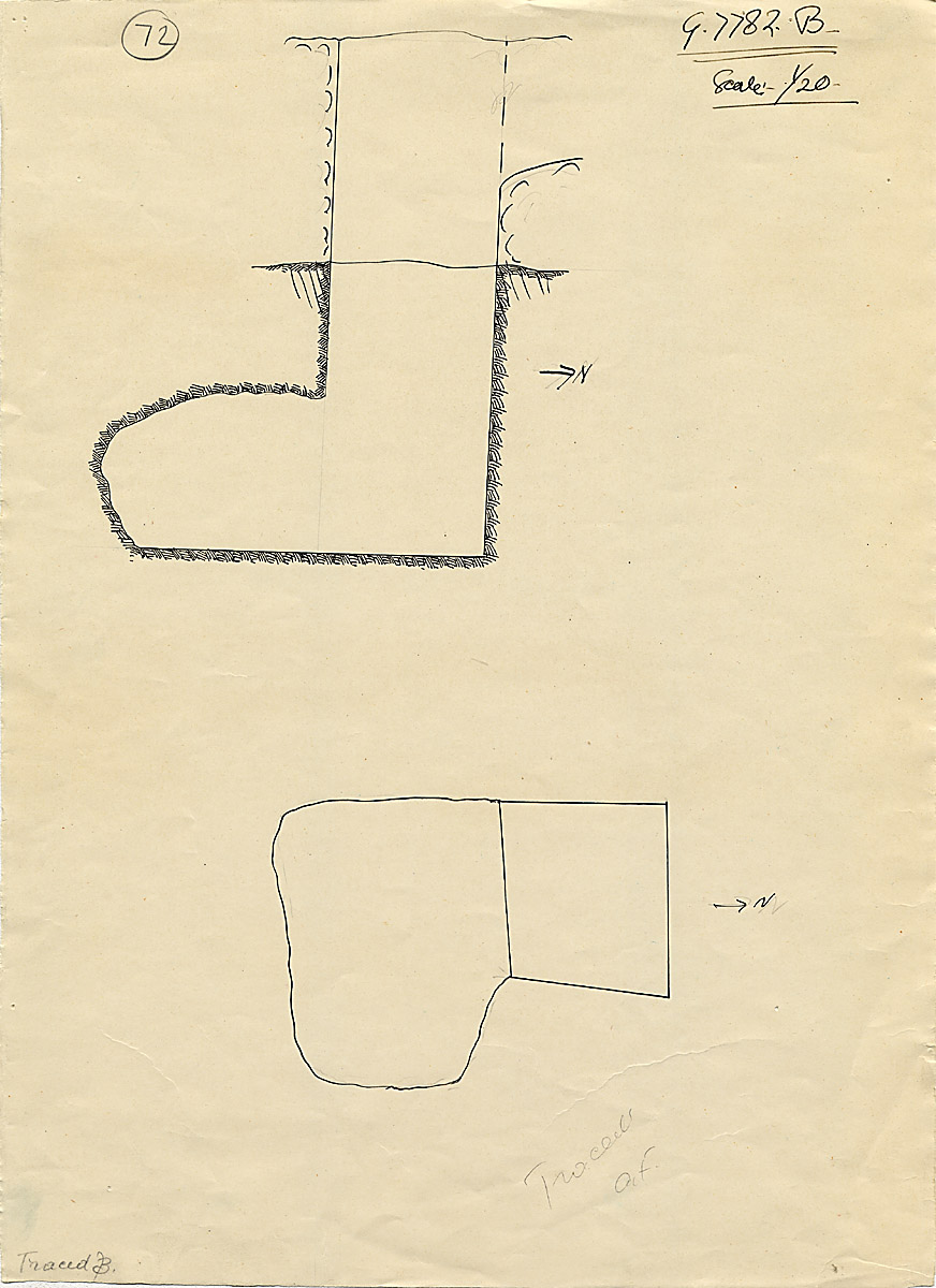 Maps and plans: G 7782, Shaft B