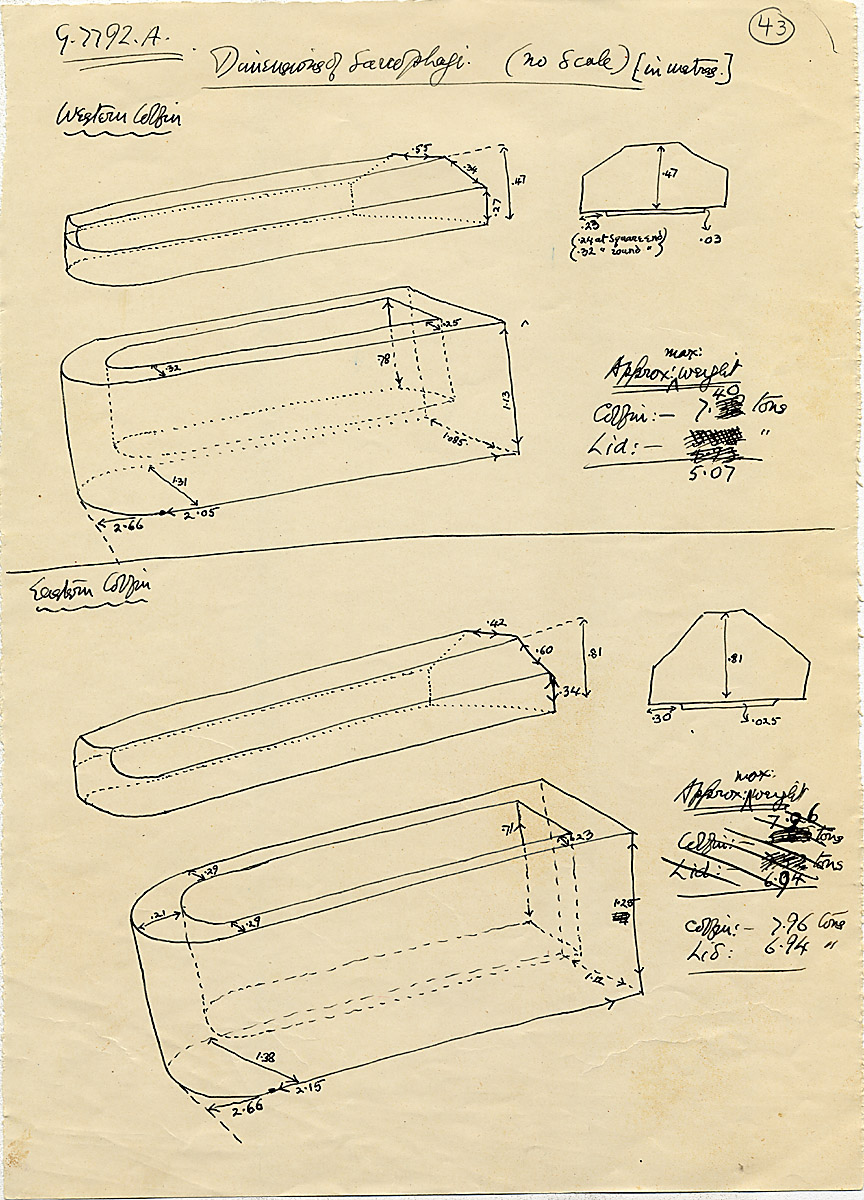 Maps and plans: G 7792, Shaft A, sarcophagi