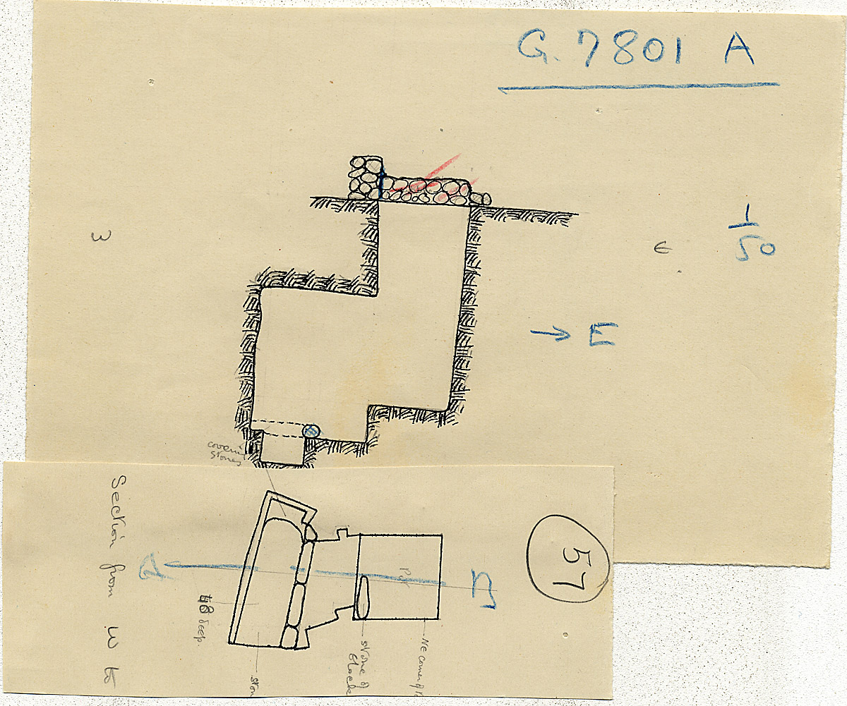 Maps and plans: G 7801, Shaft A