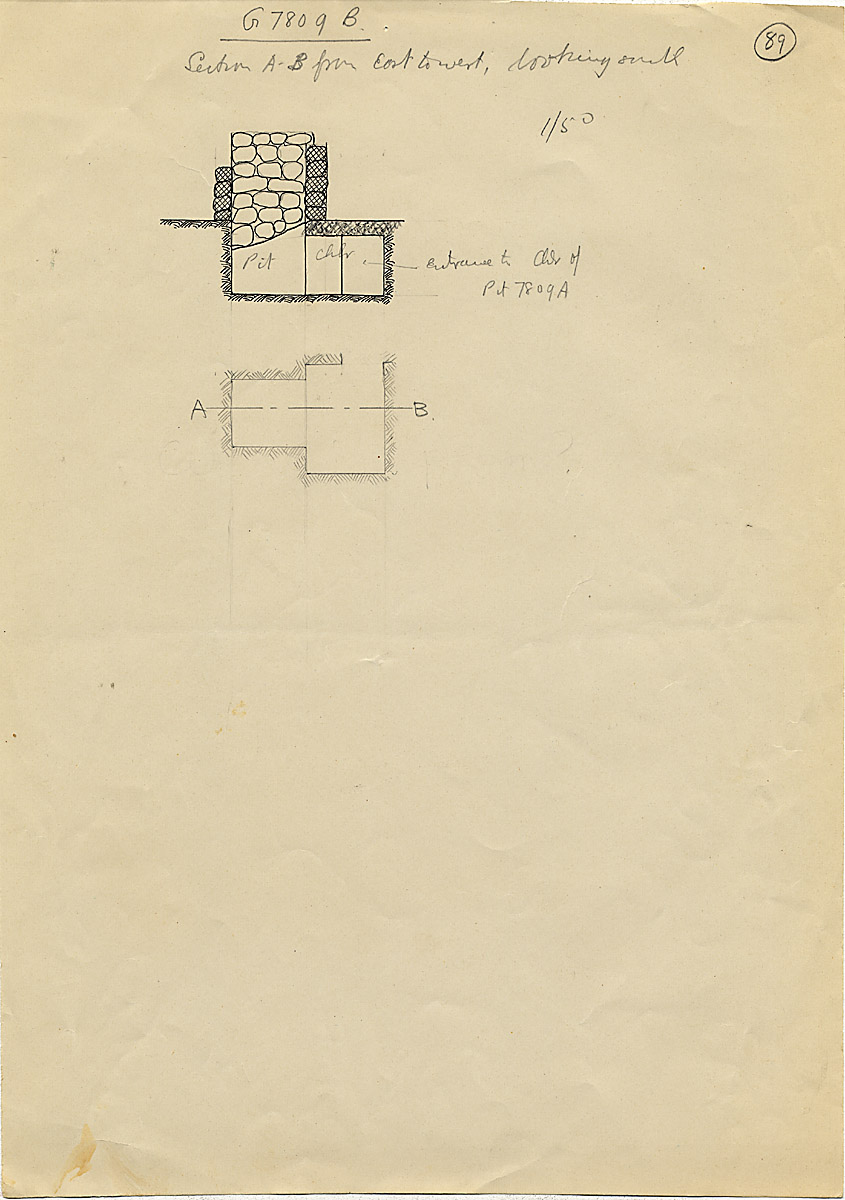 Maps and plans: G 7809, Shaft B