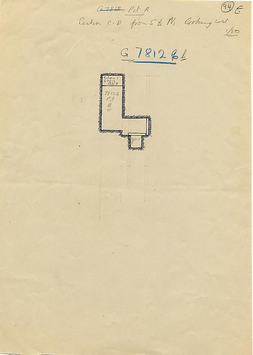 Maps and plans: G 7812b, Shaft B