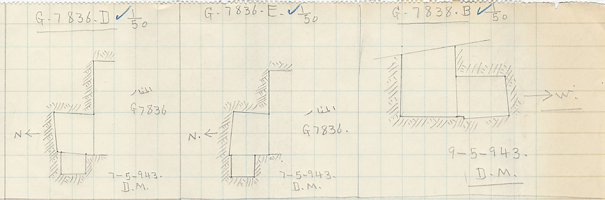 Maps and plans: G 7836, Shaft D and E & G 7838, Shaft B