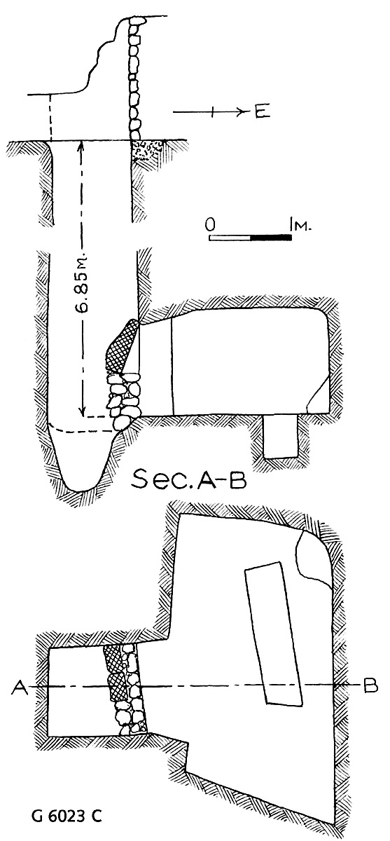 Maps and plans: G 6023, Shaft C