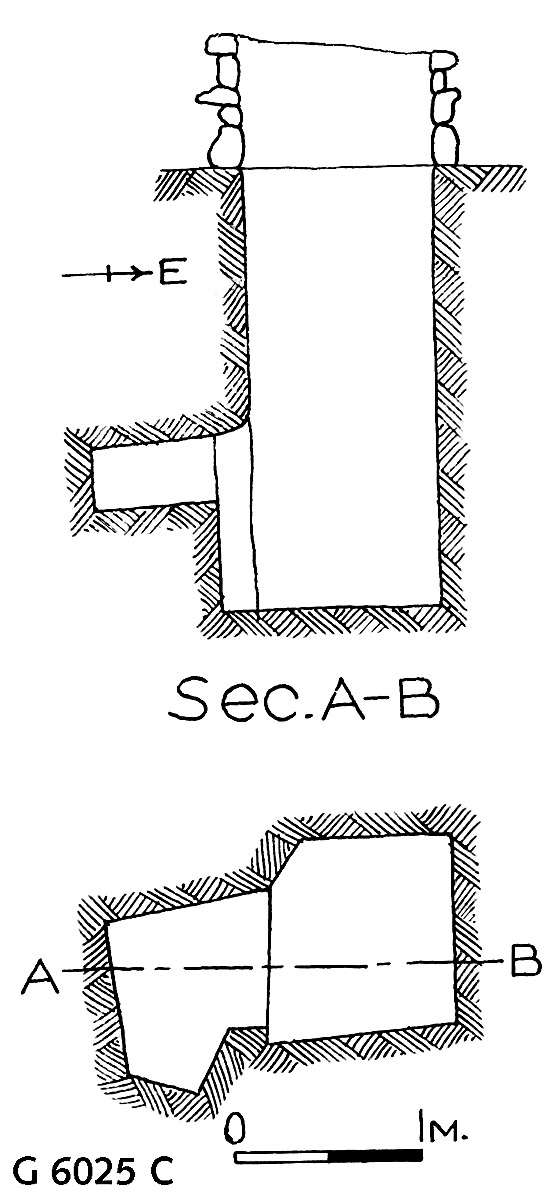 Maps and plans: G 6025, Shaft C