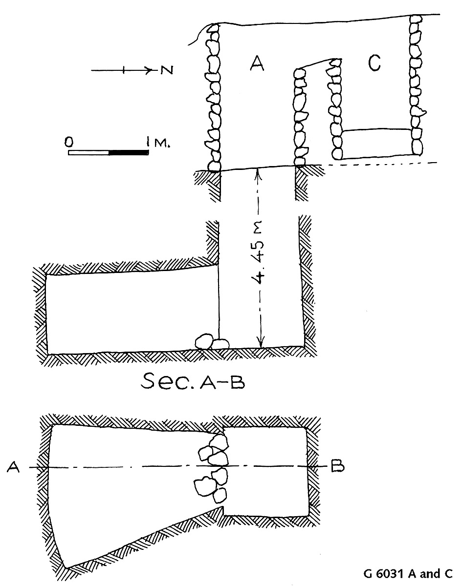 Maps and plans: G 6031, Shaft A and C
