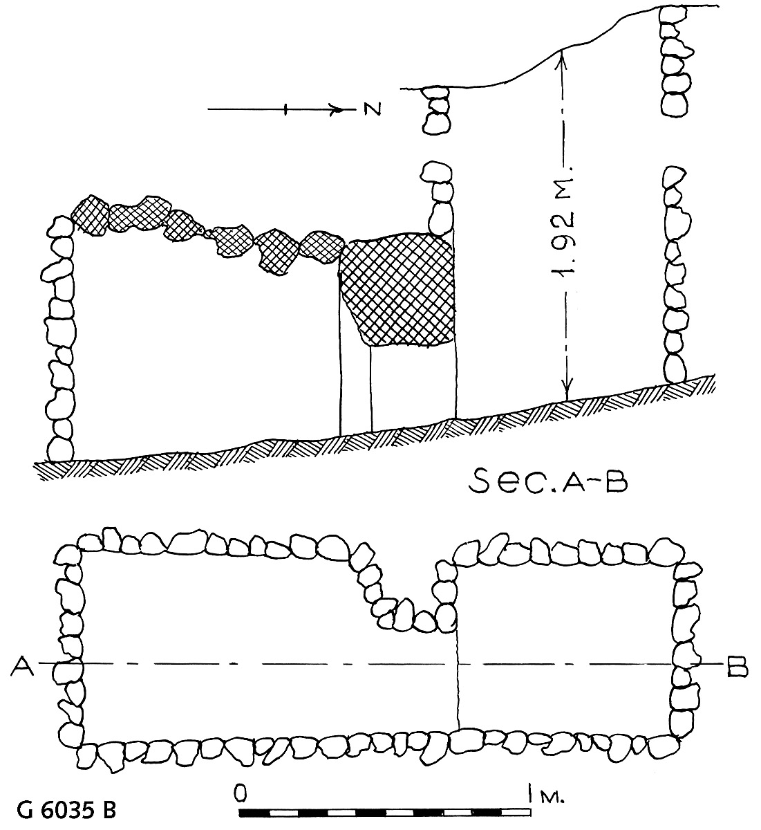 Maps and plans: G 6035, Shaft B